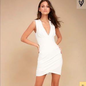 Cocktail Hour Ivory Wrap Dress